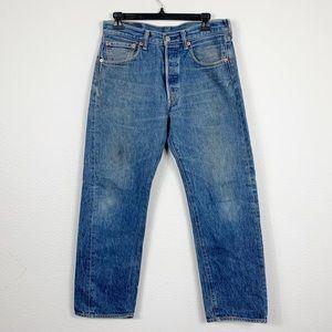 Levi's 501 High Waist Crop Straight Leg Jeans